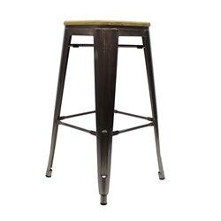 Tolix barkruk Metaal met houten zitting
