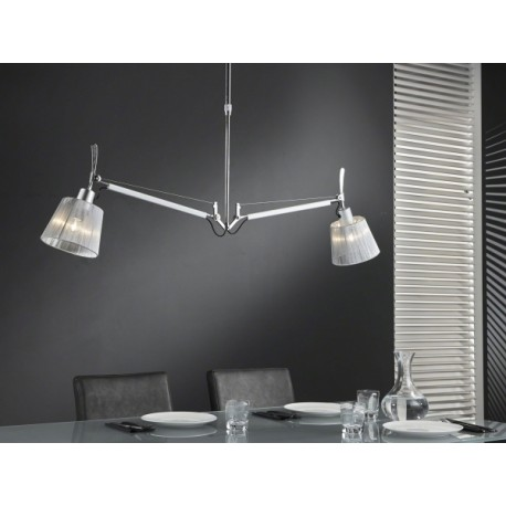 Hanglamp 2L multiflex Chrome