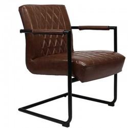 Kensington Industriële relax fauteuil bruin