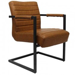Bentley Industriële fauteuil cognac