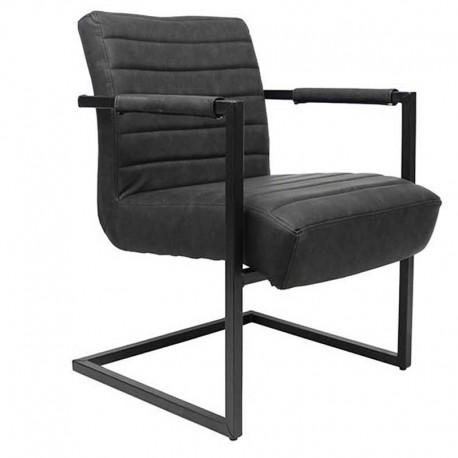 Bentley Industriële fauteuil zwart