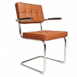 Bauhaus stoel met arm Cognac