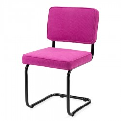Bruut Ridge Rib stoel roze (zwart frame)