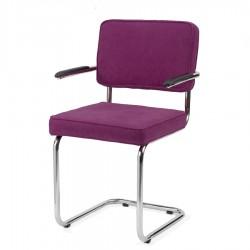 Bruut Ridge Rib stoel met arm violet