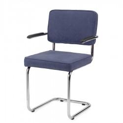 Bruut Ridge Rib stoel met arm donkerblauw