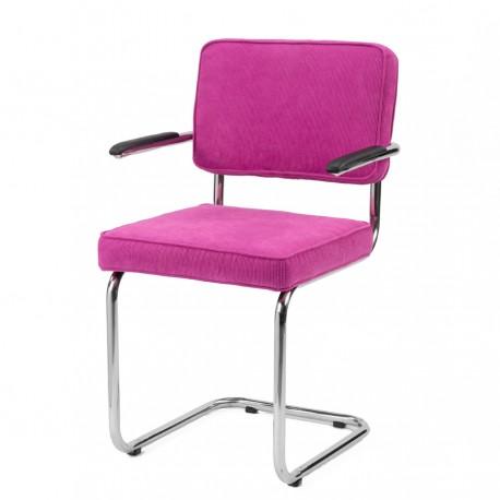 Bruut Ridge Rib stoel met arm roze