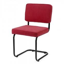 Bruut Ridge Rib stoel Rood met zwart frame