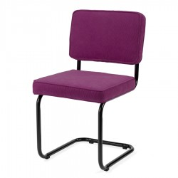 Bruut Ridge Rib stoel Violet (zwart frame)
