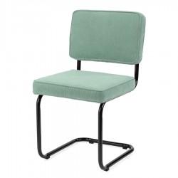 Bruut Ridge Rib stoel oud groen zwart frame