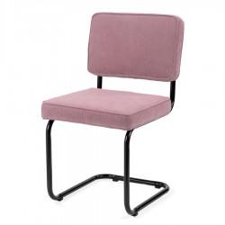 Bruut Ridge Rib stoel oud roze zwart frame