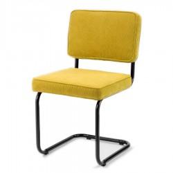 Bruut Ridge Rib stoel geel zwart frame