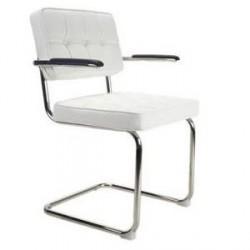 Bauhaus stoel met arm Wit