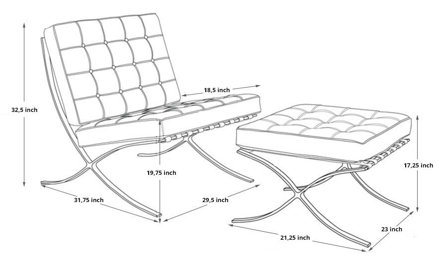 Barcelona Chair dimensions
